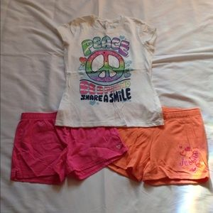 Girls Size 16 Justice Shorts and Tee